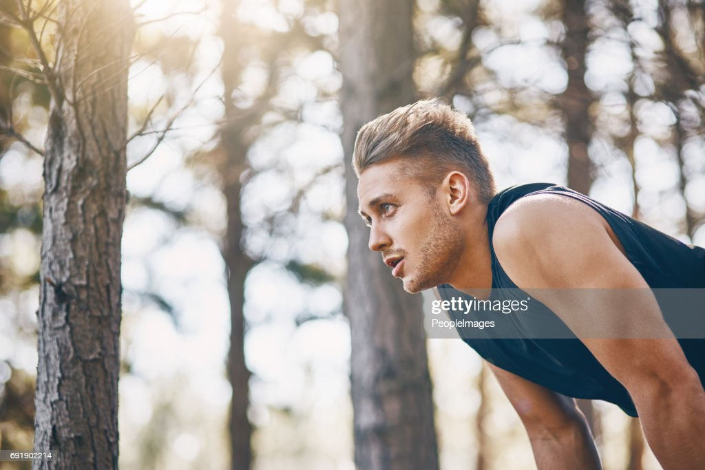 Check your breathing when you go for a run : Stock Photo