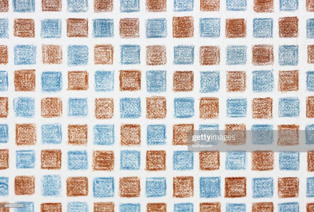 Checked pattern of brown and light blue : Stock-Foto