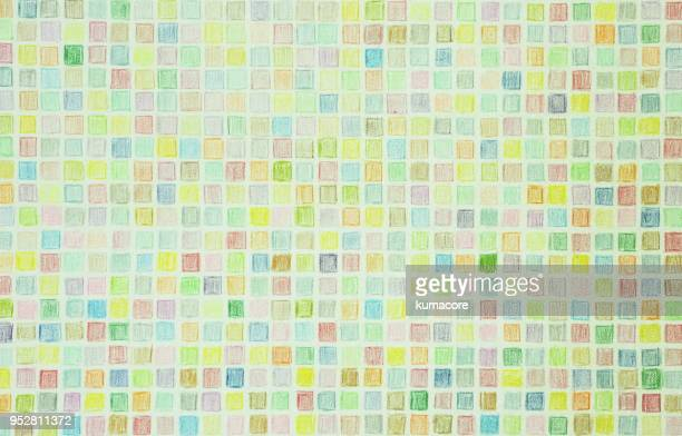 Checked pattern of pastel colors