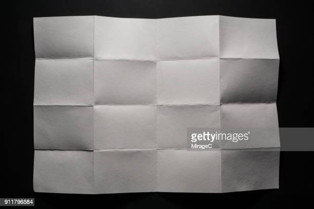 checked pattern unfold paper - folded stock photos and pictures