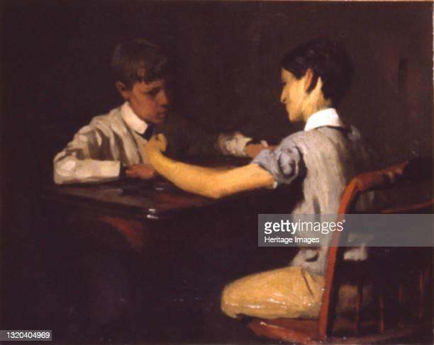 Checker Players, circa 1895. Artist Thomas Pollock Anshutz.