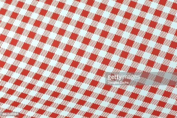 checkered cloth pattern - picnic blanket stock pictures, royalty-free photos & images