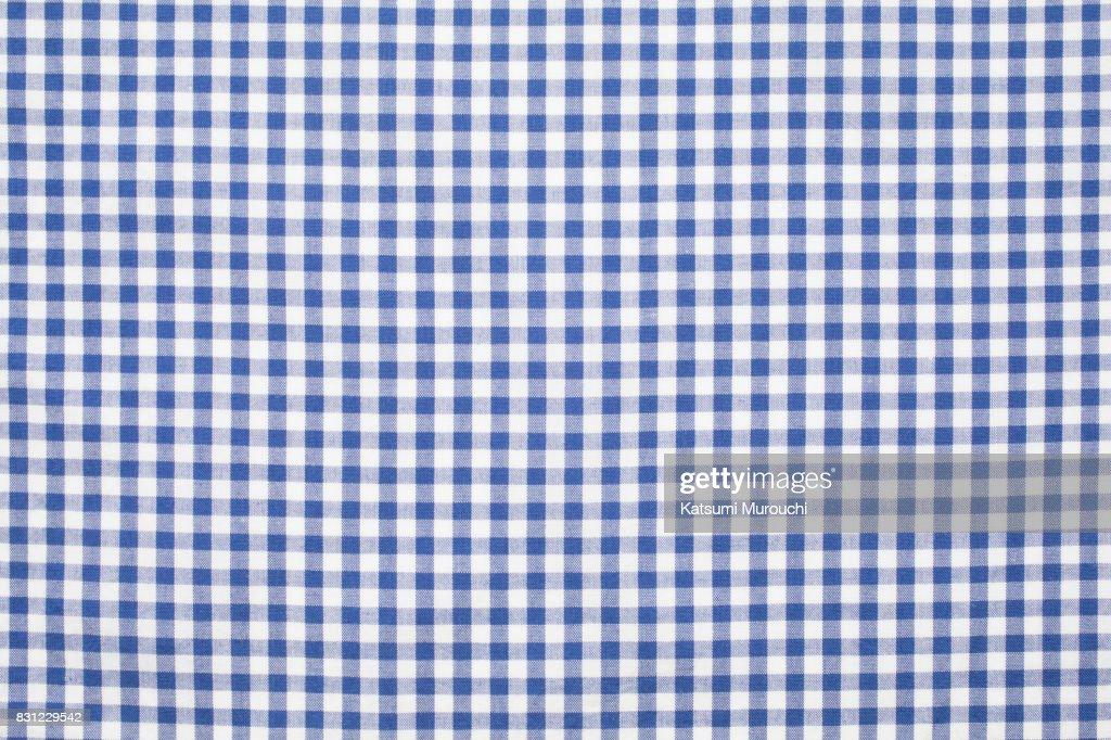 Checkered cloth textutre background : Foto de stock