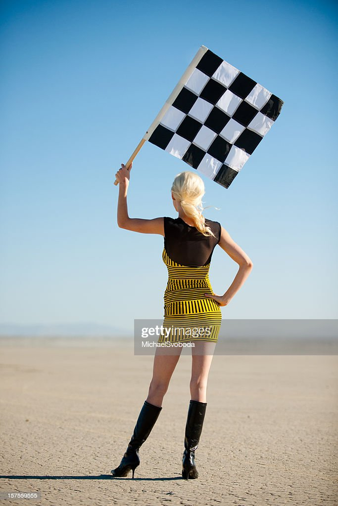 Checkered Flag : Stock Photo