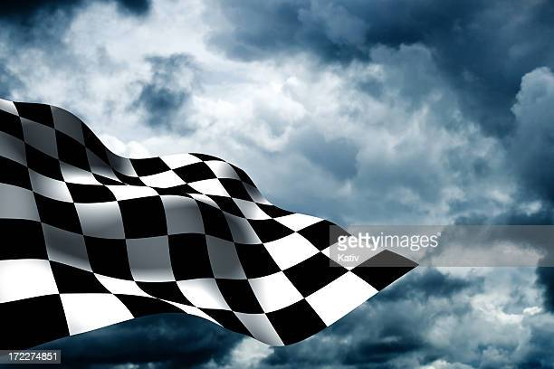 checkered flag - flag stock pictures, royalty-free photos & images