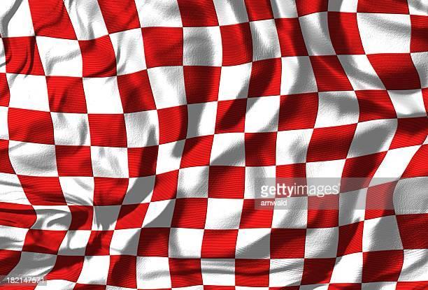 Checkered Flag (Red/White)