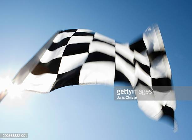 Checkered flag (blurred motion)