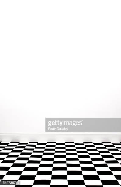 Checkered floor with copy space portrait