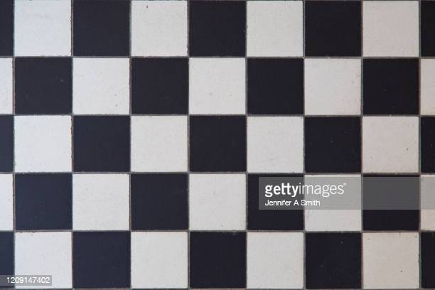 checkered tiles - checked pattern stock pictures, royalty-free photos & images