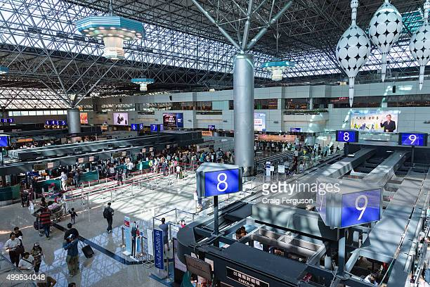 Checkin gates at Terminal 2 Taiwan Taoyuan International Airport The airport handles more than 35 million passenger movements per year making it the...