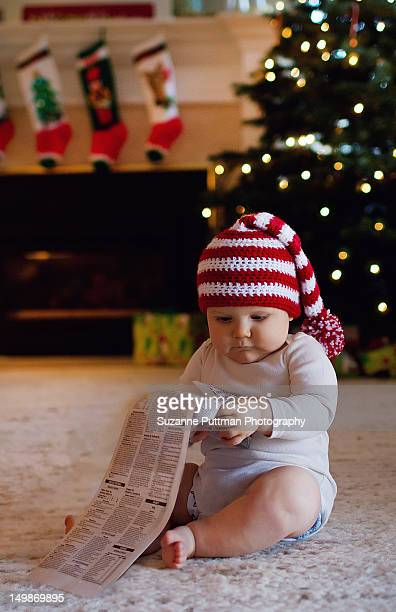 checking christmas list - stockings no shoes stock pictures, royalty-free photos & images