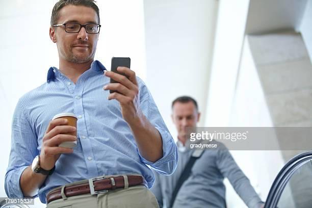 Checking his texts