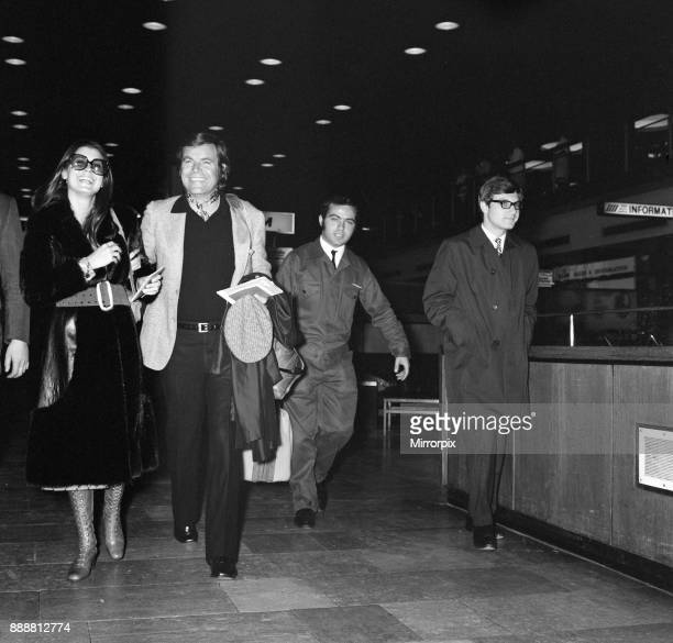 Checking in at London Heathrow Airport was Tina Sinatra youngest daughter of singer Frank Sinatra and her husbandtobe actor Robert Wagner who will be...