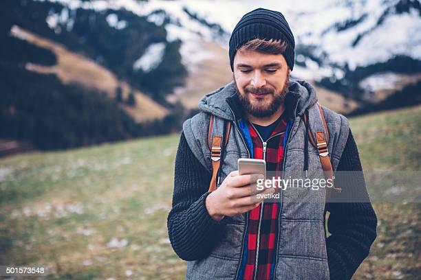 El check-in a la montaña