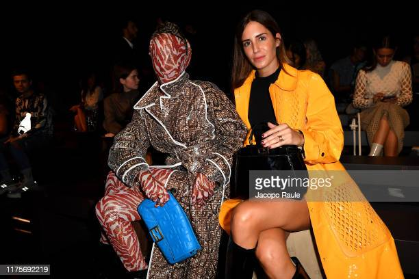 Checking Invoices and Gala Gonzalez attends the Fendi fashion show during the Milan Fashion Week Spring/Summer 2020 on September 19 2019 in Milan...