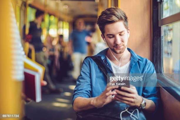 checking messages - rush hour stock pictures, royalty-free photos & images
