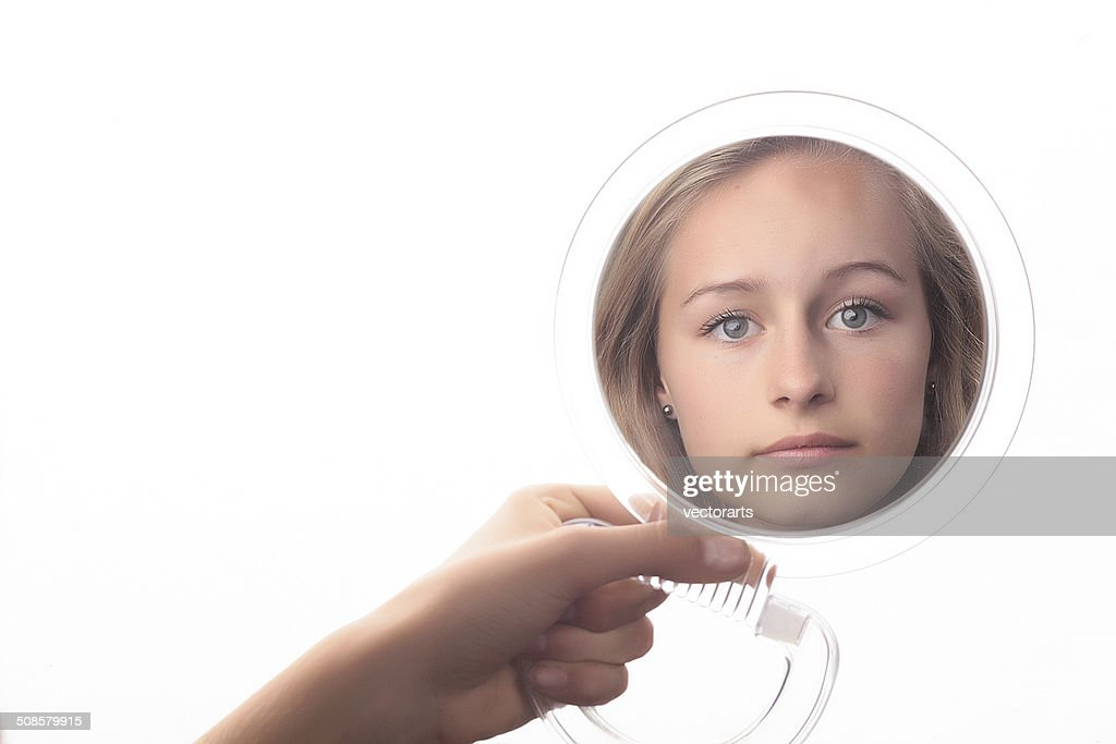 checking mirror : Stockfoto