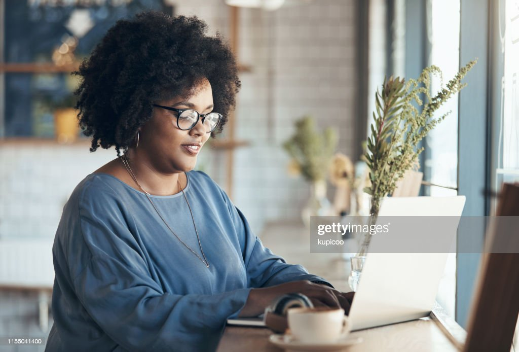 Checking my emails : Stock Photo