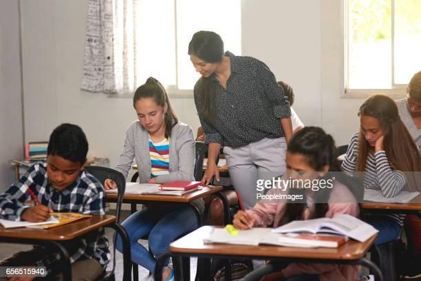 Kontrolle über die Fortschritte ihrer Klasse