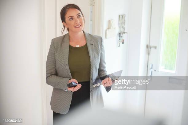checking out client's house - surveyor stock photos and pictures