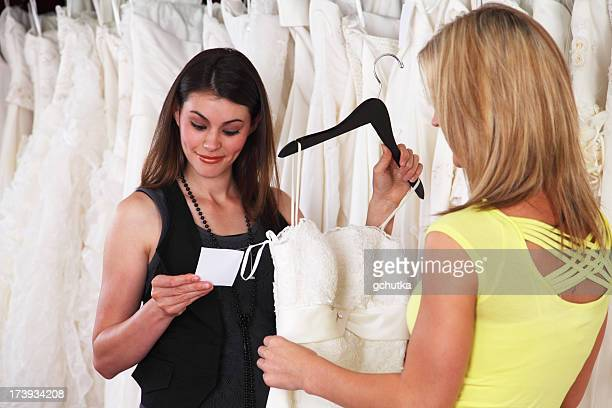 Checking Price Of Wedding Gown