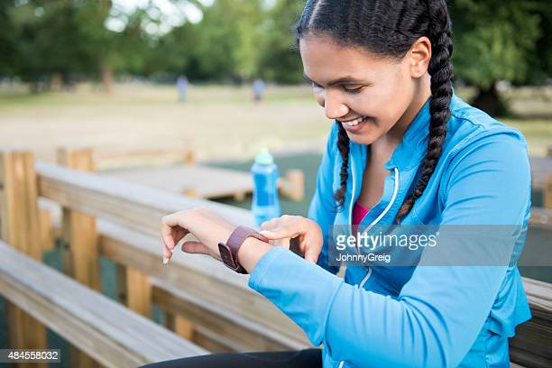 Checking smartwatch data