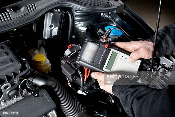 Checking the battery and electrical system of a car