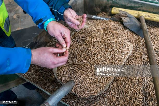 Checking the quality of wood pellets