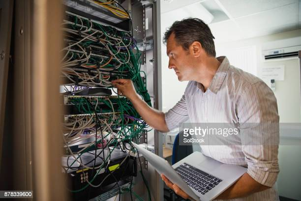 checking the server - rack stock pictures, royalty-free photos & images