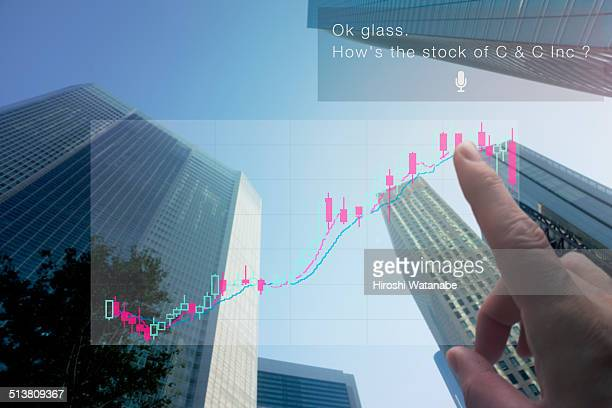 Checking the stock movement by smart glasses.