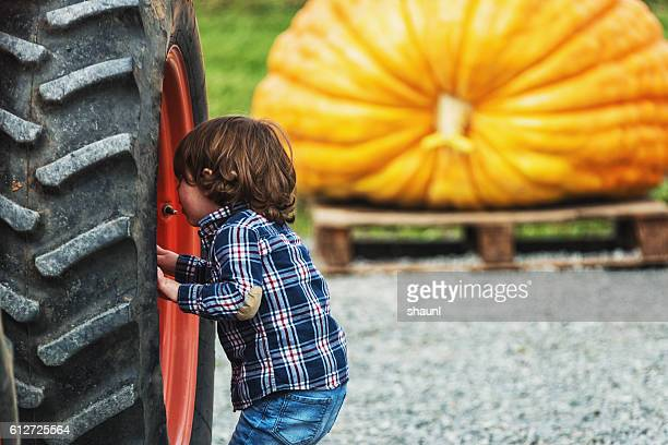 Checking the Tractor Tire