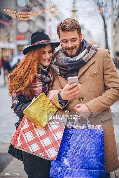 Checking their shopping list
