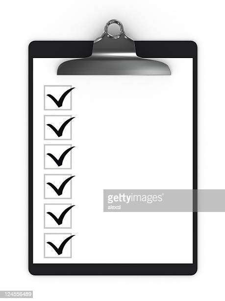 checklist clipboard - checkbox stock photos and pictures
