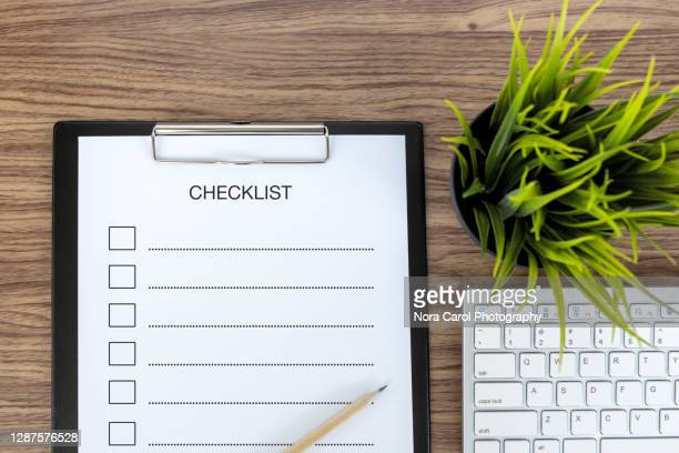 checklist text on clipboard - form filling stock pictures, royalty-free photos & images