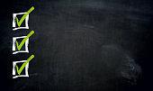 Checklist with Copyspace blackboard template