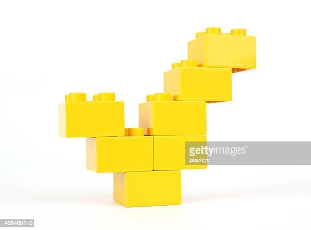 marca de comprobación - lego fotografías e imágenes de stock