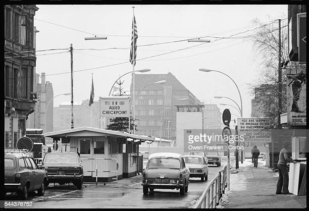 Checkpoint Charlie at the Berlin Wall