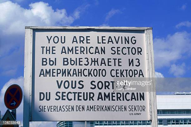 checkpoint charlie, berlin, germany - cold war stock pictures, royalty-free photos & images