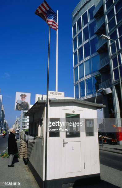 Checkpoint Charlie booth on Friedrichstr, Kreuzberg.