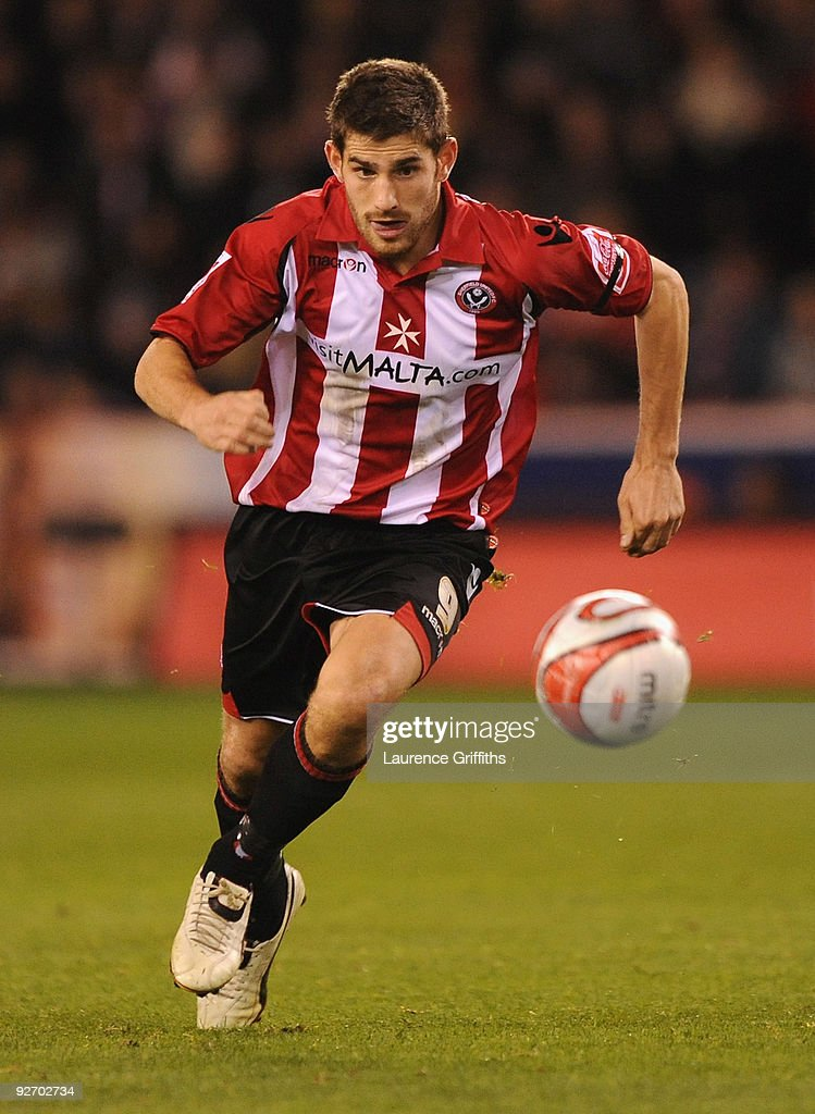 Ched Evans of Sheffield United in action during the Coca Cola Championship match between Sheffield United and Newcastle United at Bramall Lane on November 2, 2009 in Sheffield, England.