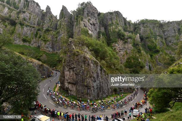 Cheddar Gorge / Peloton / Landscape / Fans / Public / during the 15th Tour of Britain 2018 Stage 3 a 128km stage from Bristol to Bristol 144m / OVO...