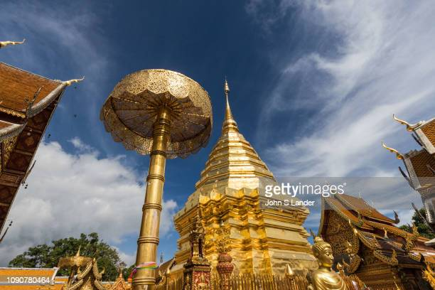 Chedi at Wat Doi Suthep its official name Wat Phrathat Doi Suthep is a Theravada Buddhist temple in Chiang Mai Thailand The temple is often referred...