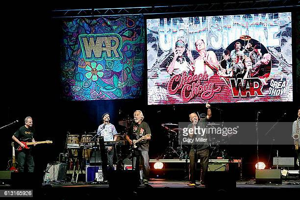 Cheech and Chong perform in concert with War at HEB Center at Cedar Park on October 6 2016 in Cedar Park Texas