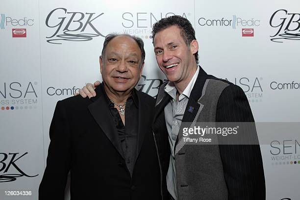 Cheech Marin and Founder of GBK Productions Gavin Keilly attend Day 1 of the GBK Oscar Globes Gift Lounge at W Hollywood on February 25 2011 in...