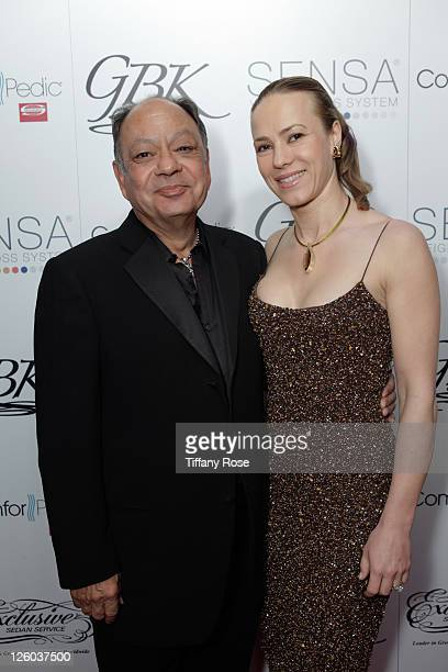 Cheech Marin and guest attend Day 1 of the GBK Oscar Globes Gift Lounge at W Hollywood on February 25 2011 in Hollywood California