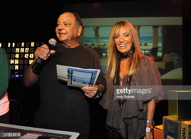 Cheech Marin and Julia Sorkin attend Bingo Night at The Roxy To Benefit The Painted Turtle at The Roxy Theatre on March 23, 2011 in West Hollywood,...