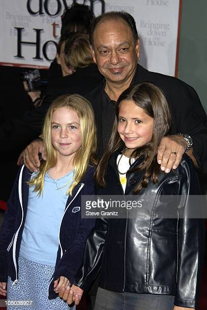 Cheech Marin and kids during 'Bringing Down the House' Premiere at El Capitan Theatre in Hollywood California United States