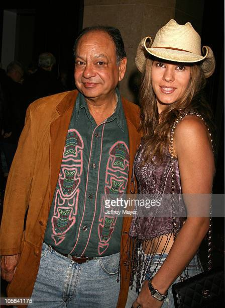 Cheech Marin and Natasha Rubin during The Motion Picture and Television Fund's 24th Golden Boot Awards Arrivals at The Beverly Hilton Hotel in...
