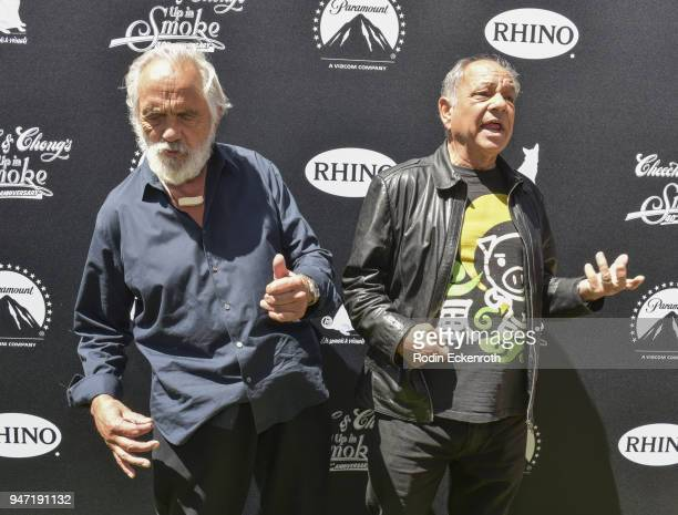 Cheech Marin and Tommy Chong attend their Key to The City of West Hollywood Award Ceremony at The Roxy Theatre on April 16 2018 in West Hollywood...
