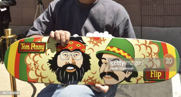 Cheech Marin and Tommy Chong inspired skateboard deck at the Key to The City of West Hollywood Award Ceremony at The Roxy Theatre on April 16 2018 in...
